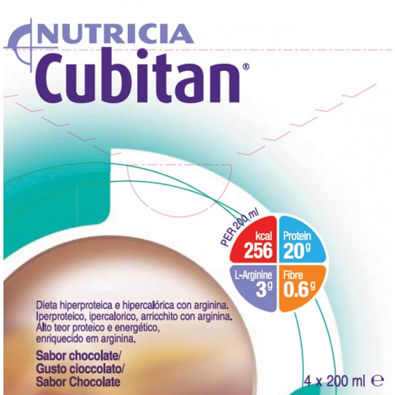 Cubitan Chocolate - 4 x 200 mL - comprar Cubitan Chocolate - 4 x 200 mL online - Farmácia Barreiros - farmácia de serviço