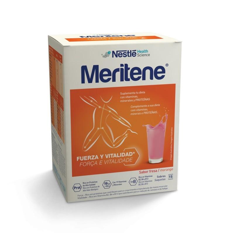 Meritene Sabor Morango - 15 saquetas - comprar Meritene Sabor Morango - 15 saquetas online - Farmácia Barreiros - farmácia de...