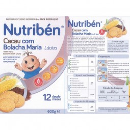 Nutribén Cacau com Bolacha Maria Láctea - 2 x 300 g - comprar Nutribén Cacau com Bolacha Maria Láctea - 2 x 300 g online - Fa...