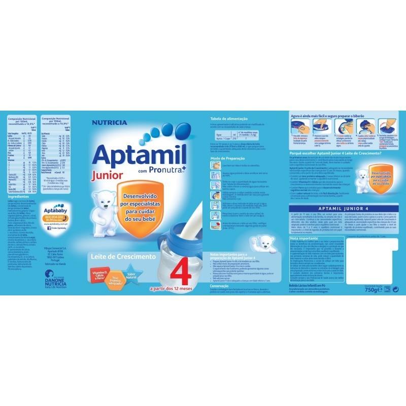 Aptamil Júnior 4 Leite Crescimento - 750 g - comprar Aptamil Júnior 4 Leite Crescimento - 750 g online - Farmácia Barreiros -...