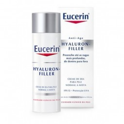 Eucerin Hyaluron-Filler Creme Dia Pele Normal a Mista - 50 mL - comprar Eucerin Hyaluron-Filler Creme Dia Pele Normal a Mista...