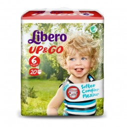 Libero Up & Go Tamanho 6 - 20 unidades - comprar Libero Up & Go Tamanho 6 - 20 unidades online - Farmácia Barreiros - farmáci...