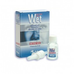 Wet Mini Spray Nasal - 4 frascos de 15 mL - comprar Wet Mini Spray Nasal - 4 frascos de 15 mL online - Farmácia Barreiros - f...