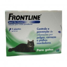 Frontline Spot-On 50 mg - Para gatos - 3 piptetas - comprar Frontline Spot-On 50 mg - Para gatos - 3 piptetas online - Farmác...