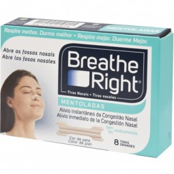 Breathe Right Tiras Nasais Mentoladas - 8 tiras - comprar Breathe Right Tiras Nasais Mentoladas - 8 tiras online - Farmácia B...