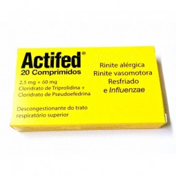 Actifed - 60/2,5 mg - comprar Actifed - 60/2,5 mg online - Farmácia Barreiros - farmácia de serviço