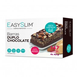 EasySLim Duplo Chocolate Barras - 4 x 42 g - comprar EasySLim Duplo Chocolate Barras - 4 x 42 g online - Farmácia Barreiros -...