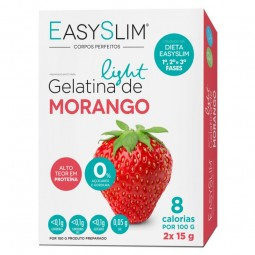 EasySlim Gelatina Light Morango - 2 x 15 g - comprar EasySlim Gelatina Light Morango - 2 x 15 g online - Farmácia Barreiros -...