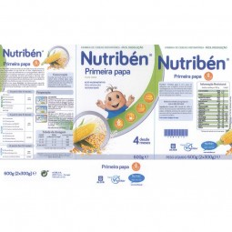 Nutribén Primeira Papa Sem Glúten - 600 g - comprar Nutribén Primeira Papa Sem Glúten - 600 g online - Farmácia Barreiros - f...