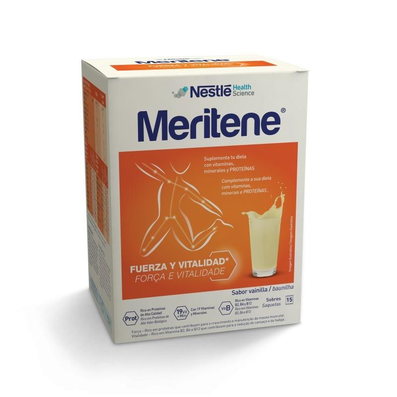 Meritene Sabor Baunilha - 15 saquetas - comprar Meritene Sabor Baunilha - 15 saquetas online - Farmácia Barreiros - farmácia ...
