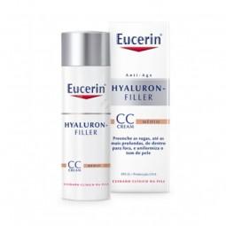 Eucerin Hyaluron-Filler CC Creme Tom Médio - 50 mL - comprar Eucerin Hyaluron-Filler CC Creme Tom Médio - 50 mL online - Farm...
