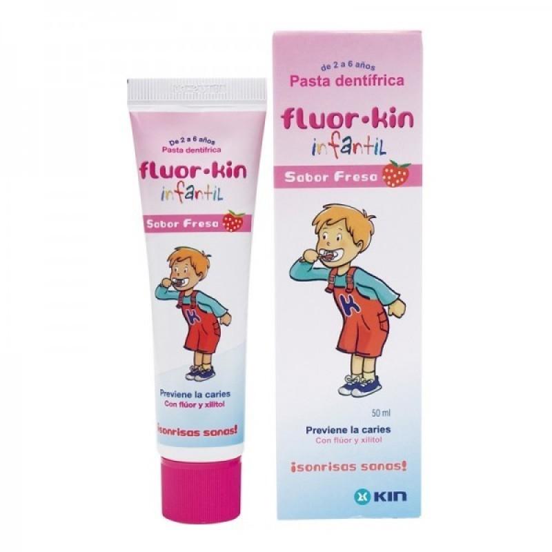 Fluor Kin Infantil Pasta Dentífrica Sabor Morango - 50 mL - comprar Fluor Kin Infantil Pasta Dentífrica Sabor Morango - 50 mL...