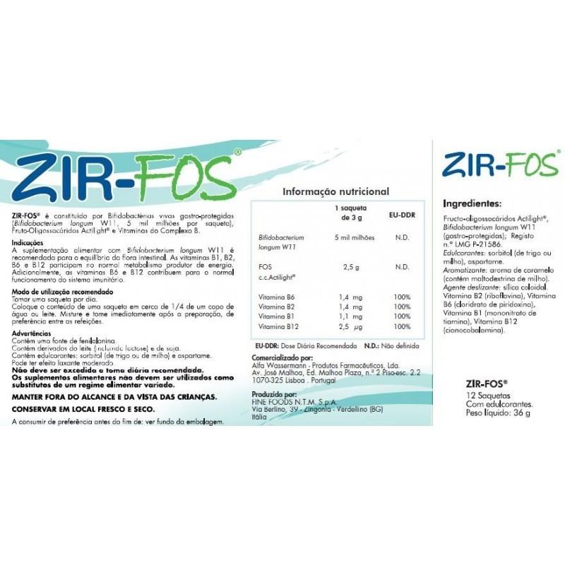 Zir Fos - 12 saquetas - comprar Zir Fos - 12 saquetas online - Farmácia Barreiros - farmácia de serviço