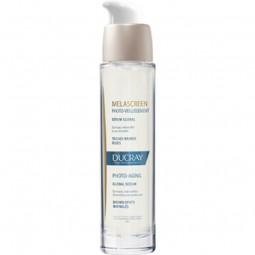 Ducray Melascreen Fotoenvelhecimento Sérum Global + Creme Noite c/ Desconto 50% + Bolsa - 30 mL + 50 mL + 1 bolsa - comprar D...