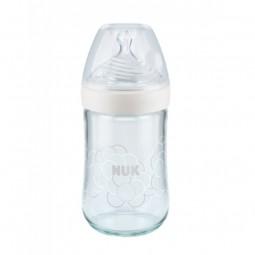 Nuk Nature Sense Biberão c/ Tetina Silicone T1S 0-6M - 1 biberão (240 mL) - comprar Nuk Nature Sense Biberão c/ Tetina Silico...