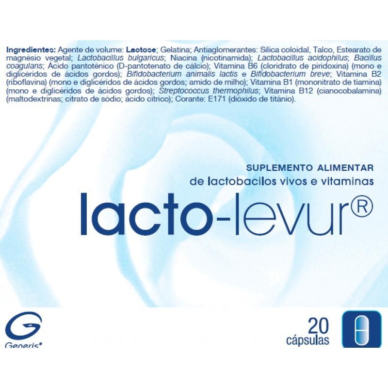 Lacto-Levur - 20 cápsulas - comprar Lacto-Levur - 20 cápsulas online - Farmácia Barreiros - farmácia de serviço