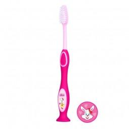 Chicco Escova de Dentes de Leite Rosa 3-6A - 1 escova - comprar Chicco Escova de Dentes de Leite Rosa 3-6A - 1 escova online ...