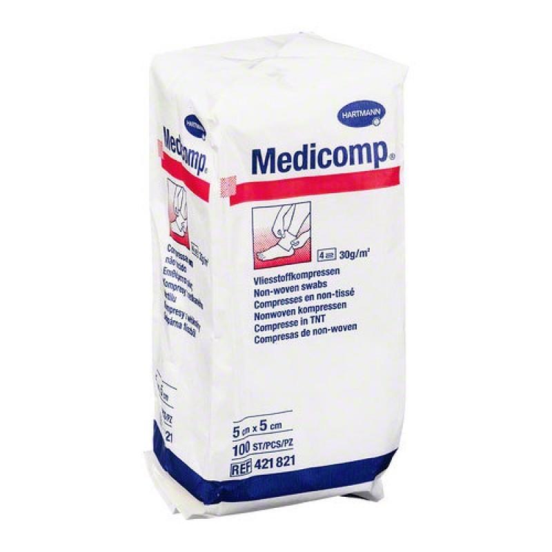 Medicomp - 100 compressas (5 x 5 cm) - comprar Medicomp - 100 compressas (5 x 5 cm) online - Farmácia Barreiros - farmácia de...