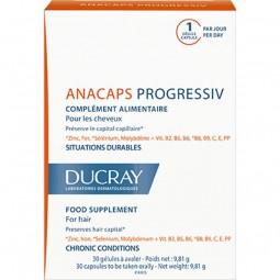 Ducray Anacaps Progressiv c/ Oferta Anaphase+ Champô Antiqueda - 30 cápsulas + 100 mL - comprar Ducray Anacaps Progressiv c/ ...
