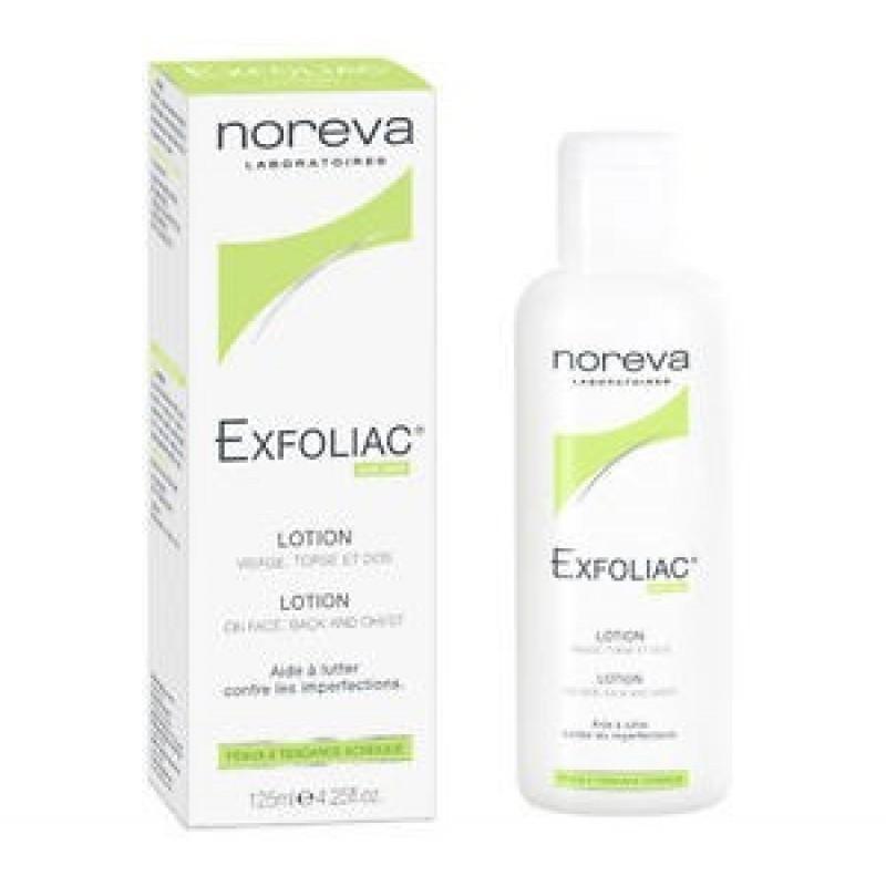 Noreva Exfoliac Loção - 125 mL - comprar Noreva Exfoliac Loção - 125 mL online - Farmácia Barreiros - farmácia de serviço
