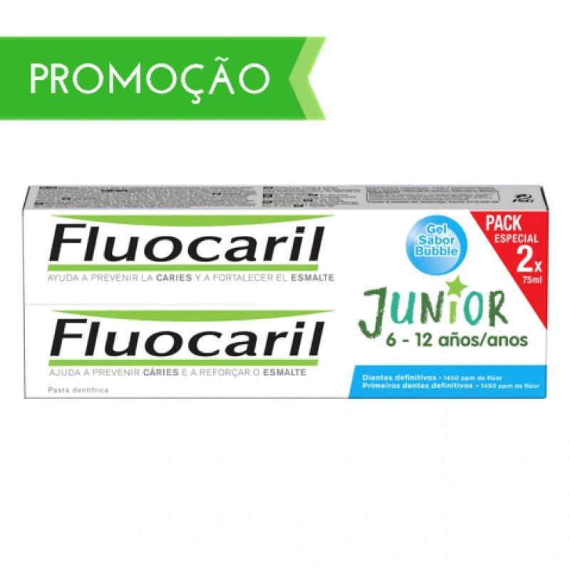 Fluocaril Junior Pasta de Dentes Bubble Duo - 2 x 75 mL - comprar Fluocaril Junior Pasta de Dentes Bubble Duo - 2 x 75 mL onl...