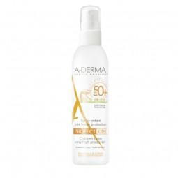 A-Derma Pack A-Derma Protect Spray Criança SPF 50+ + AH Leite Reparador Após Sol c/ Preço Especial - 200 mL + 250 mL - compra...