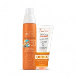 Avène Solar Spray Criança SPF 50+ c/ Oferta Trixera Nutrition Leite Nutri-Fluido - 200 mL + 100 mL - comprar Avène Solar Spra...
