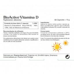 Bioactivo Vitamina D - 80 cápsulas - comprar Bioactivo Vitamina D - 80 cápsulas online - Farmácia Barreiros - farmácia de ser...