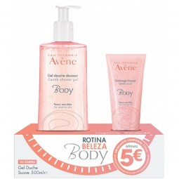 Avène Eau Thermale Pack Body Gel de Duche Suave + Body Esfoliante - 500 mL + 200 mL - comprar Avène Eau Thermale Pack Body Ge...
