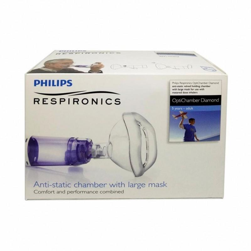 Philips Respironics OptiChamber Diamond 5 Anos a Adultos - 1 unidade - comprar Philips Respironics OptiChamber Diamond 5 Anos...