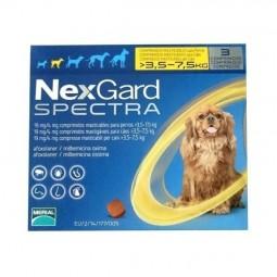 Nexgard Spectra Cão 3,5 a 7,5kg - 3 comprimidos - comprar Nexgard Spectra Cão 3,5 a 7,5kg - 3 comprimidos online - Farmácia B...