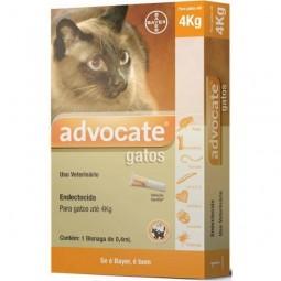 Bayer Advocate Gato até 4kg - 3 x 0,4ml pipetas - comprar Bayer Advocate Gato até 4kg - 3 x 0,4ml pipetas online - Farmácia B...