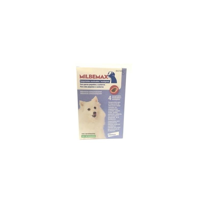 Milbemax Cães Pequenos a Médios - 4 comprimidos mastigáveis - comprar Milbemax Cães Pequenos a Médios - 4 comprimidos mastigá...