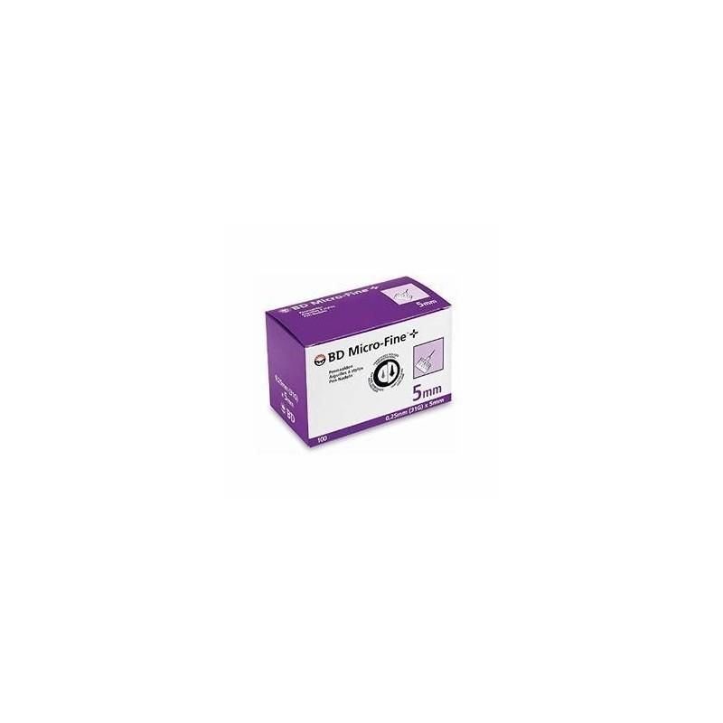 BD Micro Fine Agulhas 5mm - 100 unidades - comprar BD Micro Fine Agulhas 5mm - 100 unidades online - Farmácia Barreiros - far...