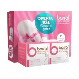 Barral Creme Gordo Óleo Amêndoas Duo com Oferta do Kit Barriga de Gesso - 2 embalagens x 200ml - comprar Barral Creme Gordo Ó...