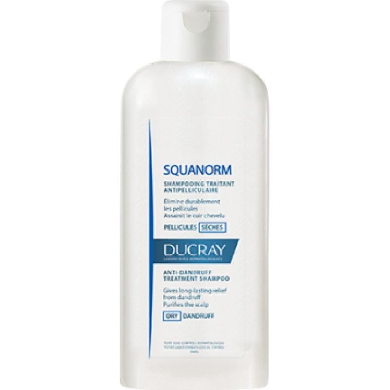 Ducray Squanorm Champô Caspa Seca - 200 mL - comprar Ducray Squanorm Champô Caspa Seca - 200 mL online - Farmácia Barreiros -...