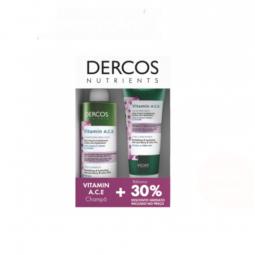 Vichy Dercos Nutrients Vitamin A.C.E Champô Iluminador e A.C.E Bálsamo Iluminador com Desconto 30% - 250ml + 200ml - comprar ...