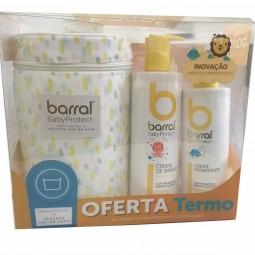 Barral Babyprotect Pack Creme Hidratante e Creme de Banho com Oferta de Termo - 400ml + 500ml + Brinde - comprar Barral Babyp...