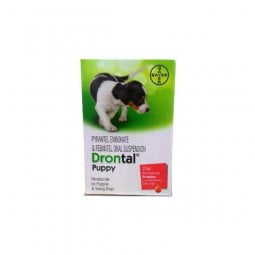 Bayer Drontal Antiparasitário Puppy - 50ml - comprar Bayer Drontal Antiparasitário Puppy - 50ml online - Farmácia Barreiros -...
