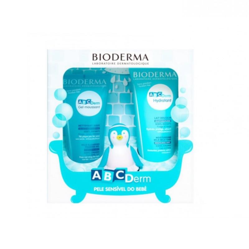 Bioderma ABCDerm Pack Gel Moussant + Leite Hidratante + Pingu - 200 mL + 200 mL + 1 mascote - comprar Bioderma ABCDerm Pack G...