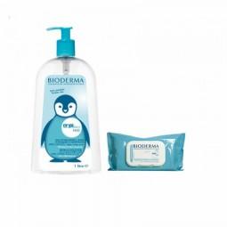 Bioderma ABCDerm Pack H2O Água Micelar + Toalhetes - 1000 mL + 60 toalhetes - comprar Bioderma ABCDerm Pack H2O Água Micelar ...