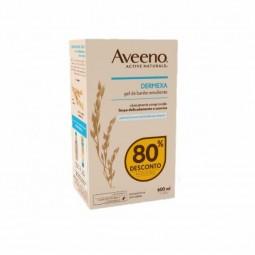 Aveeno Dermexa Gel de Banho Emoliente Duo c/ Desconto 80% 2ª Embalagem - 2 x 300 mL - comprar Aveeno Dermexa Gel de Banho Emo...