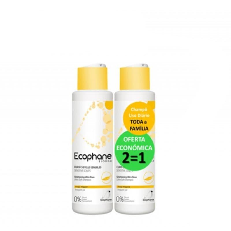 Ecophane Biorga Champô Ultra Suave c/ Oferta 2ª Embalagem - 500 mL + 500 mL - comprar Ecophane Biorga Champô Ultra Suave c/ O...