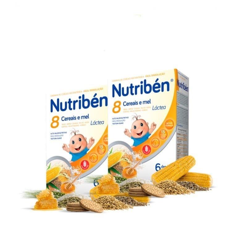 Nutribén 8 Cereais e Mel Láctea Duo - 2x 300 g - comprar Nutribén 8 Cereais e Mel Láctea Duo - 2x 300 g online - Farmácia Bar...