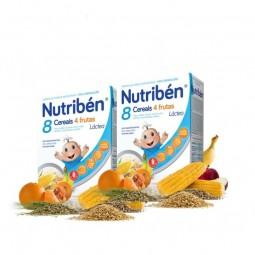 Nutribén 8 Cereais 4 Frutas Láctea Duo - 2 x 300 g - comprar Nutribén 8 Cereais 4 Frutas Láctea Duo - 2 x 300 g online - Farm...
