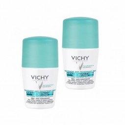 Vichy Desodorizante Roll-On Antitranspirante 48H Antimanchas Brancas & Amarelas Duo c/ Desconto 2.5€ - 2 x 50 mL - comprar Vi...