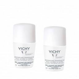 Vichy Desodorizante Roll-On Antitranspirante 48H Pele Sensível Duo c/ Desconto 2.5€ - 2 x 50 mL - comprar Vichy Desodorizante...