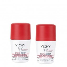 Vichy Desodorizante Roll-On Antitranspirante 72H Stress Resist Duo c/ Desconto 2.5€ - 2 x 30 mL - comprar Vichy Desodorizante...