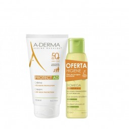 A-Derma Pack A-Derma Protect AD Creme SPF 50+ c/ Oferta Exomega Control Óleo Duche Emoliente - 150 mL + 100 mL - comprar A-De...