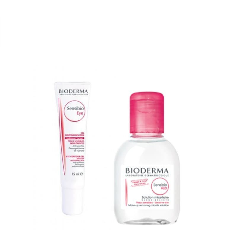 Bioderma Sensibio Pack Contorno de Olhos + H2O Água Micelar - 15 mL + 100 mL - comprar Bioderma Sensibio Pack Contorno de Olh...